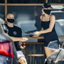 Miley Cyrus – Picking up coffee with boyfriend Cody Simpson in Calabasas