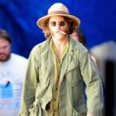 "Joaquin Phoenix is photographed in character while rehearsing on the set of ""Inherent Vice"" in Los Angeles on July 8, 2013"
