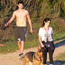 Nikki Reed: take her dogs for a hike in the Hollywood Hills in Hollywood