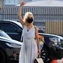 Anne Heche – Possing at the Dancing with the Stars studio in Los Angeles