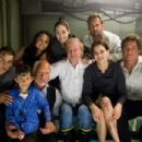 (L-r) Mike Vogel as Christian, Jimmy Bennett as Conor James, Richard Dreyfuss as Richard Nelson, Mia Maestro as Elena, Emmy Rossum as Jennifer Ramsey, director Wolfgang Petersen, Jacinda Barrett as Maggie James, Josh Lucas as Dylan Johns and Kurt Russell