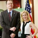 Angela Kinsey and Jack Coleman
