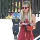 Emma Roberts in Red Mini Dress – Out in Silverlake - 454 x 568