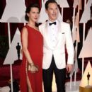 Benedict Cumberbatch and his wife Sophie Hunter - February 22, 2015 - Arrivals at the 87th Annual Academy Awards - 399 x 600