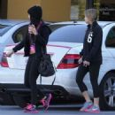 Vanessa Hudgens and her sister Stella getting their nails done in Studio City, California on January 3, 2013