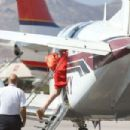 Lindsay Lohan Entering a Private Plane in Mykonos, Greece, August 2016