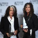 Aerosmith attends The Songwriters Hall Of Fame 44th annual Induction at the NY Marriott Marquis on June 13, 2013 - 454 x 429