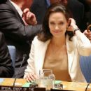 Angelina Jolie Attends United Nations Security Council Meetings On Middle East And Syria (April 24, 2015)