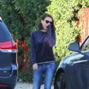 Mila Kunis – Heads out to her car in LA - 454 x 681