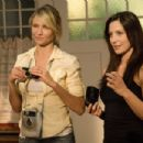 (L-r) CAMERON DIAZ as Sara and HEATHER WAHLQUIST as Aunt Kelly in New Line Cinema's drama 'My Sister's Keeper,' a Warner Bros. Pictures release. The film also stars Abigail Breslin. Photo by Sidney Baldwin - 454 x 302