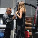 Heidi Klum in Black Dress – Out in Los Angeles - 454 x 681
