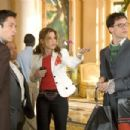 """L-r: ENRIQUE MURCIANO, REGINA KING, SANDRA BULLOCK and DIEDRICH BADER in Castle Rock Entertainment's and Village Roadshow Pictures' comedy """"Miss Congeniality 2: Armed and Fabulous,"""" distributed by Warner Bros. Pictures. Photo by Fr"""