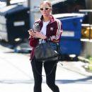 Ashlee Simpson in Black Leggings in Studio City