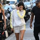 Kendall Jenner in White – Out in Paris