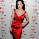 Dita Von Teese - Heart Truth's Red Dress Collection 2011 during Mecerdes-Benz fashion week at The Theatre at Lincoln Center on February 9, 2011 in New York City
