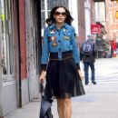 Famke Janssen – Out and about in New York