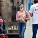 Emma Roberts – In a ripped denim out for a coffee in Los Angeles