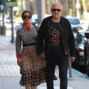 Salma Hayek and Francois-Henri Pinault are spotted out at a doctors office in Beverly Hills, California on August 29, 2016 - 454 x 596