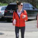 Ashley Greene In Leggings Hiking Mulholland Trail In La