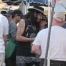 Russell Brand out at Pacific Palisades Market with Isabella Brewster (July 15) - 454 x 620