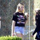 Jessica Hart in Denim Shorts out in LA - 454 x 516