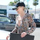 Sharon Stone in Sheer Dress out in Beverly Hills - 454 x 592