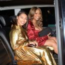 Vanessa White and Munroe Bergdorf – Leaving Pat McGrath Party in London - 454 x 679