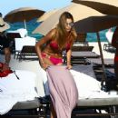 Ariadna Gutierrez in Pink Bikini on the beach in Miami - 454 x 548