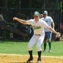 Nick Jonas playing softball in NYC (August 2)