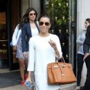 Eva Longoria: leaving her swanky hotel in Paris