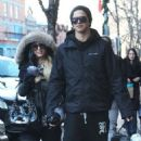 Paris Hilton and boyfriend River Viiperi out doing some last minute Christmas shopping in Aspen, Colorado on December 23, 2012