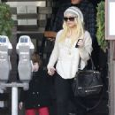 Christina Aguilera: stopped off at Taste restaurant in West Hollywood