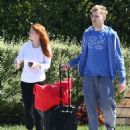 Ariel Winter and Levi Meaden – Arrives at LAX International Airport in LA