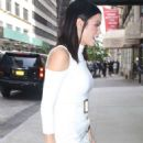 Jenna Dewan Tatum in White Dress out in New York City - 454 x 652
