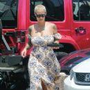 Amber Rose Running Errands in Los Angeles, California - July 7, 2016