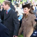 Prince William Windsor and Kate Middleton Attend Church On Christmas Day  (December 25, 2014)
