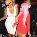Blac Chyna, Amber Rose, and James Harden at 1 Oak Nightclub in West Hollywood - September 15, 2015 - 454 x 715