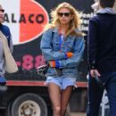 Stella Maxwell in Denim Shorts – Out in New York City - 454 x 663