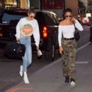 Gigi and Bella Hadid – Out for dinner in NYC - 454 x 454