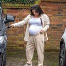 Casey Batchelor – Shows off her growing baby bump spotted out in Hertfordshire - 454 x 548