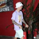 Justin and Hailey Bieber – Seen at Voda Spa after dinner in West Hollywood