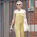 Carey Mulligan in Yellow Summer Dress – Out in NYC - 454 x 697