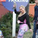 Nicole Coco Austin in Tights at Universal Studios in Universal City - 454 x 681