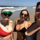 Dakota Fanning in Red Bikini Top – Instagram