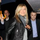 Jennifer Aniston - Dining In A Boat In Paris With Gerard Butler - March 28, 2010