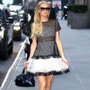 Paris Hilton – Arrives at SiriusXM in New York City