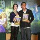 "Mandy Moore promoting ""Tangled"" at the Disney Store in NYC (November 19 2010) with Zachary Levi"