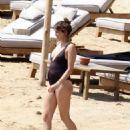 Troian Bellisario in Swimsuit on vacationing in Mykonos
