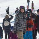 Nina Dobrev – Skiing in Aspen