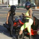 Blac Chyna and Amber Rose Riding Around in Los Angeles - May 28, 2015 - 454 x 506